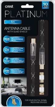 Antenna Cable With Quad Shield - 5M