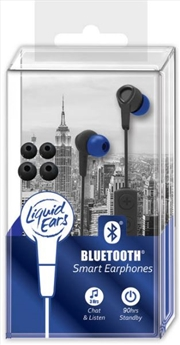 Liquid Ears - Bluetooth Smart Earphones Black/Blue