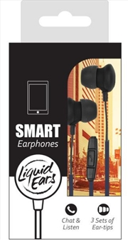 Liquid Ears - Classic Black In Ear Smartphone 3 Button Control