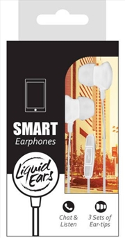 Liquid Ears - Classic White In Ear Smartphone In-ear 3 Button Cont
