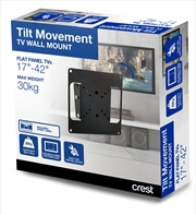 Crest Tilt Action TV Wall Mount - Small