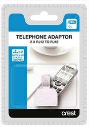 Modular Telephone Double Adaptor RJ12 To 2 X RJ12 | Accessories