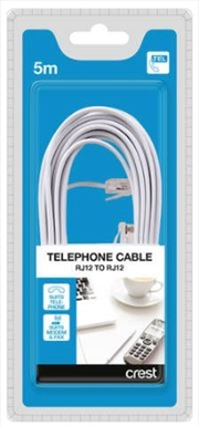 Telephone & Modem Cable RJ12 To RJ12 - 5M | Accessories