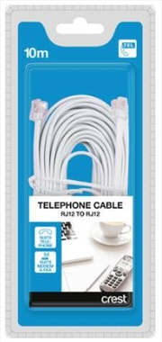 Telephone & Modem Cable RJ12 To RJ12 - 10M | Accessories