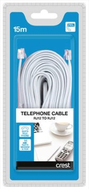 Telephone & Modem Cable RJ12 To RJ12 - 15M | Accessories