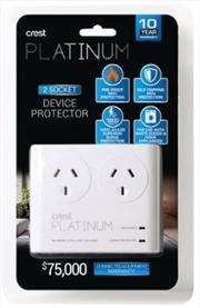 Crest Platinum Surge Protector - 2 Socket | Accessories