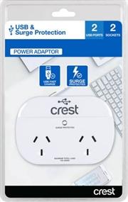 Crest USB Power Adaptor 2 Sockets / 2 Ports | Accessories