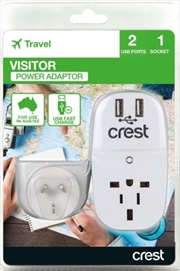 Crest Universal USB Travel Adaptor For Australia & NZ | Accessories