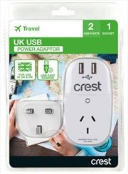 Crest UK Adaptor 1 Socket | Accessories