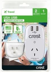 Crest USA Adaptor 1 Socket | Accessories