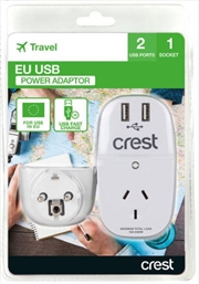 Crest EU Adaptor 1 Socket | Accessories