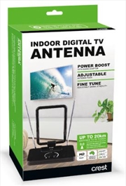 Crest Indoor Antenna Variable Gain - Black