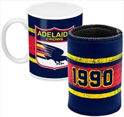 AFL Coffee Mug and Can Cooler Adelaide Crows