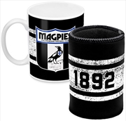 AFL Coffee Mug and Can Cooler Collingwood Magpies