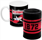 AFL Coffee Mug and Can Cooler Essendon Bombers