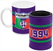 AFL Coffee Mug and Can Cooler Fremantle Dockers