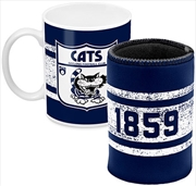 AFL Coffee Mug and Can Cooler Geelong Cats