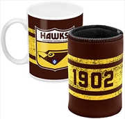 AFL Coffee Mug and Can Cooler Hawthorn Hawks