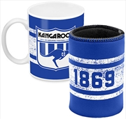 AFL Coffee Mug and Can Cooler North Melbourne Kangaroos