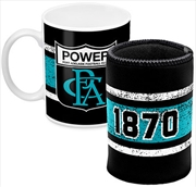 AFL Coffee Mug and Can Cooler Port Adelaide Power
