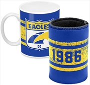 AFL Coffee Mug and Can Cooler West Coast Eagles | Merchandise