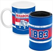 AFL Coffee Mug and Can Cooler Western Bulldogs