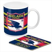 AFL Coffee Mug and Coaster 1st Team Logo Adelaide Crows