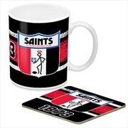 AFL Coffee Mug and Coaster 1st Team Logo St Kilda Saints | Merchandise