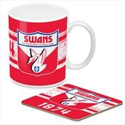 AFL Coffee Mug and Coaster 1st Team Logo Sydney Swans | Merchandise