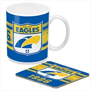 AFL Coffee Mug and Coaster 1st Team Logo West Coast Eagles