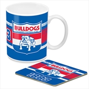 AFL Coffee Mug and Coaster 1st Team Logo Western Bulldogs