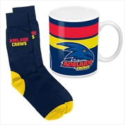 AFL Coffee Mug and Sock Gift Pack Adelaide Crows