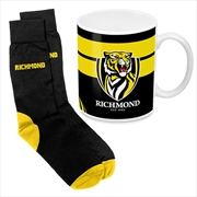 AFL Coffee Mug and Sock Gift Pack Richmond Tigers