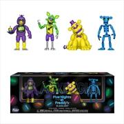 "Five Nights at Freddy's - Black Light #1 2"" Figure 4-pack | Merchandise"