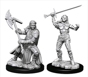 Dungeons & Dragons - Nolzur's Marvelous Unpainted Minis: Female Half-Orc Fighter | Games