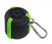 AquaBass Waterproof Bluetooth Black and Green Speaker