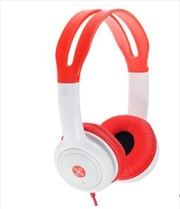 Volume Limited Kids Red Headphones