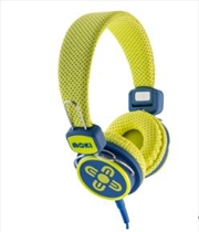 Kid Safe Volume Limited Yellow & Blue Headphones | Accessories