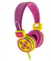Kid Safe Volume Limited Pink & Yellow Headphones