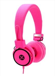 Hyper Pink Headphones