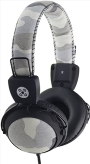 Camo In-line Mic Grey Headphones