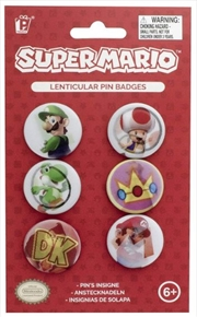 Super Mario - Lenticular Pin Badges
