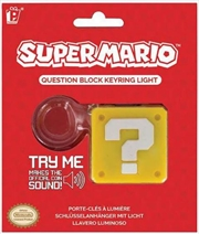 Super Mario Question Block Keyring Light | Accessories