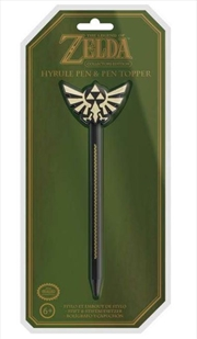Legend Of Zelda Hyrule Pen And Pen Topper | Merchandise