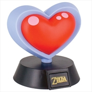 Legend Of Zelda Heart Container 3D Light