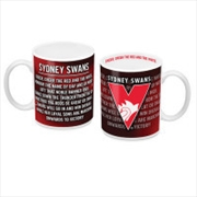 AFL Coffee Mug Team Song Sydney Swans