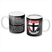 AFL Coffee Mug Team Song St Kilda Saints
