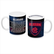 AFL Coffee Mug Team Song Melbourne Demons
