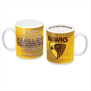 AFL Coffee Mug Team Song Hawthorn Hawks