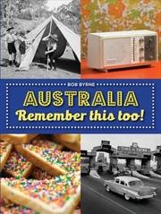 Australia Remember This Too | Paperback Book